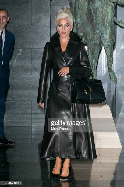 ac6a5adea1 Singer Lady Gaga is seen leaving her hotel on August 29 2018 in Paris France