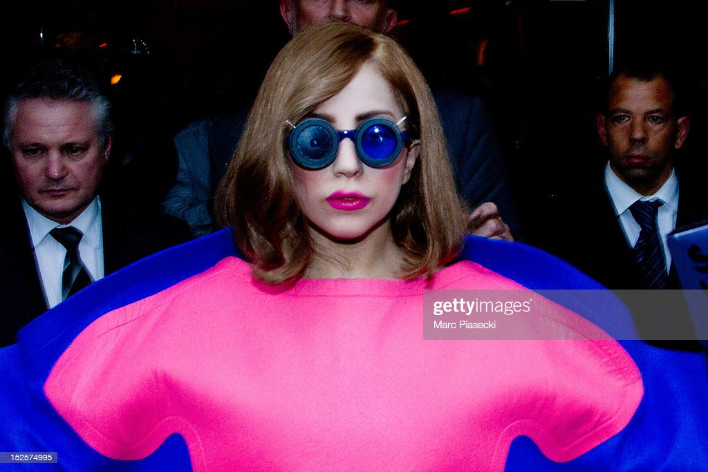 Lady Gaga Sighting In Paris - September 22, 2012 : News Photo