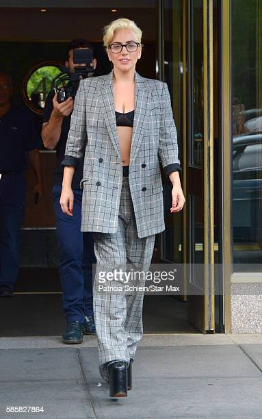 Singer Lady Gaga is seen on August 4 2016 in New York City