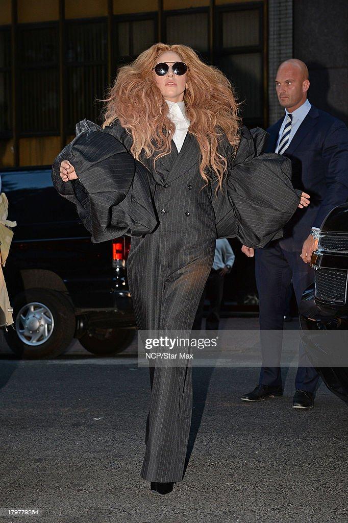 Singer Lady Gaga is seen on September 6, 2013 in New York City.