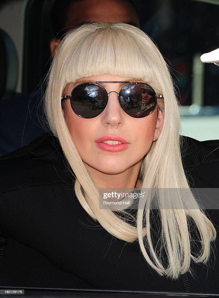 Singer Lady Gaga is seen outside 'Good Morning America' on September 9, 2013 in New York City.