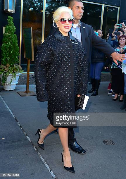 Singer Lady Gaga is seen walking in Midtown on October 6 2015 in New York City