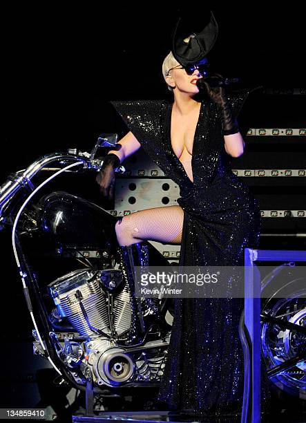 Singer Lady Gaga performs at KIIS FM's Jingle Ball at L.A. Live's Nokia Theatre on December 3, 2011 in Los Angeles, California.