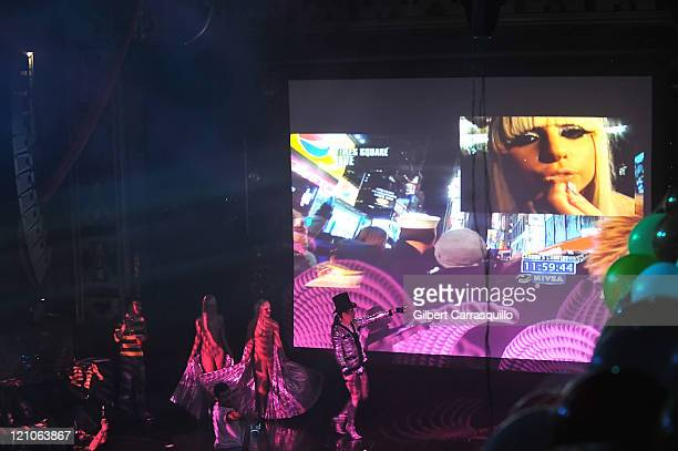 Singer Lady GaGa performs at the 2009 New Year's Eve Ball at Webster Hall on December 31 2008 in New York City