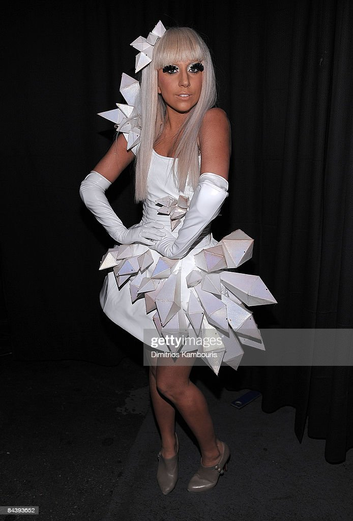 Singer Lady GaGa poses backstage during Z100's Jingle Ball 2008 Presented by H&M at Madison Square Garden on December 12, 2008 in New York City. *EXCLUSIVE*