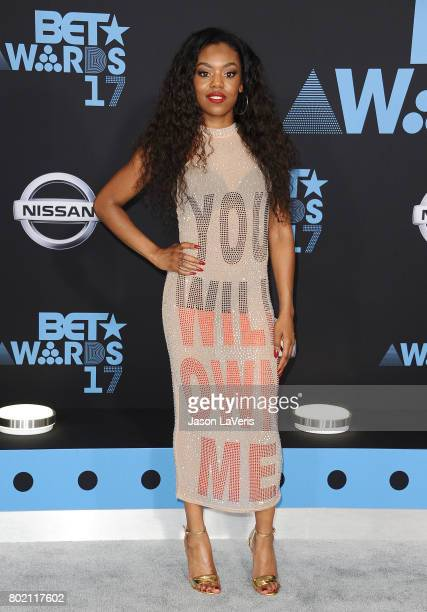 Singer Lady Leshurr attends the 2017 BET Awards at Microsoft Theater on June 25 2017 in Los Angeles California