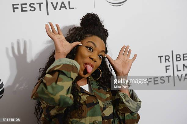 Singer Lady Leshurr attends the 'I'll Sleep When I'm Dead' premiere during 2016 Tribeca Film Festival at Beacon Theatre on April 15 2016 in New York...