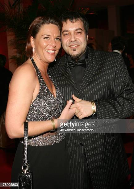 Singer Laith AlDeen and Melanie Moser attend the 2007 Sports Gala Ball des Sports at the RheinMain Hall on February 3 2007 in Wiesbaden Germany