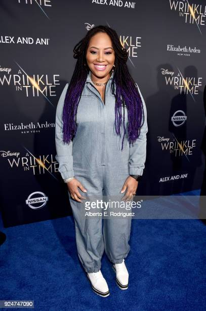 Singer Lalah Hathaway arrives at the world premiere of Disney's 'A Wrinkle in Time' at the El Capitan Theatre in Hollywood CA Feburary 26 2018