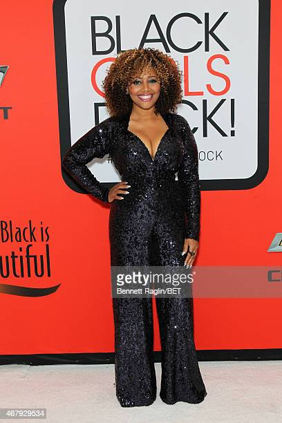 Singer Lalah Hathaway attends the BET's Black Girls Rock Red Carpet sponsored by Chevrolet at NJPAC – Prudential Hall on March 28 2015 in Newark New...