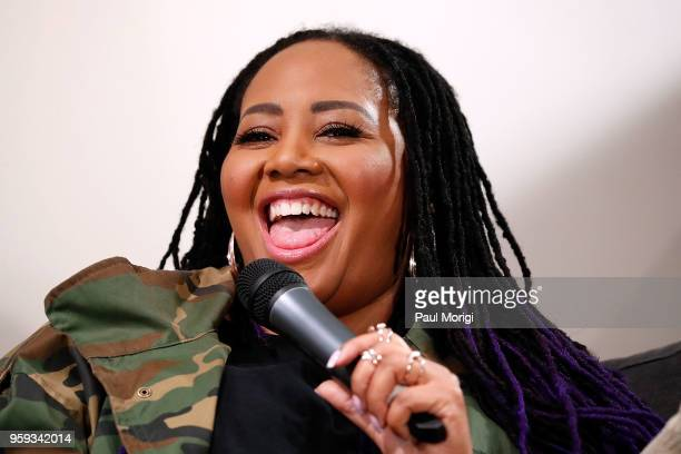 Singer Lalah Hathaway participate in a panel discussion at the Vocal Health Clinic event hosted by The Recording Academy WDC Chapter and MusiCares at...
