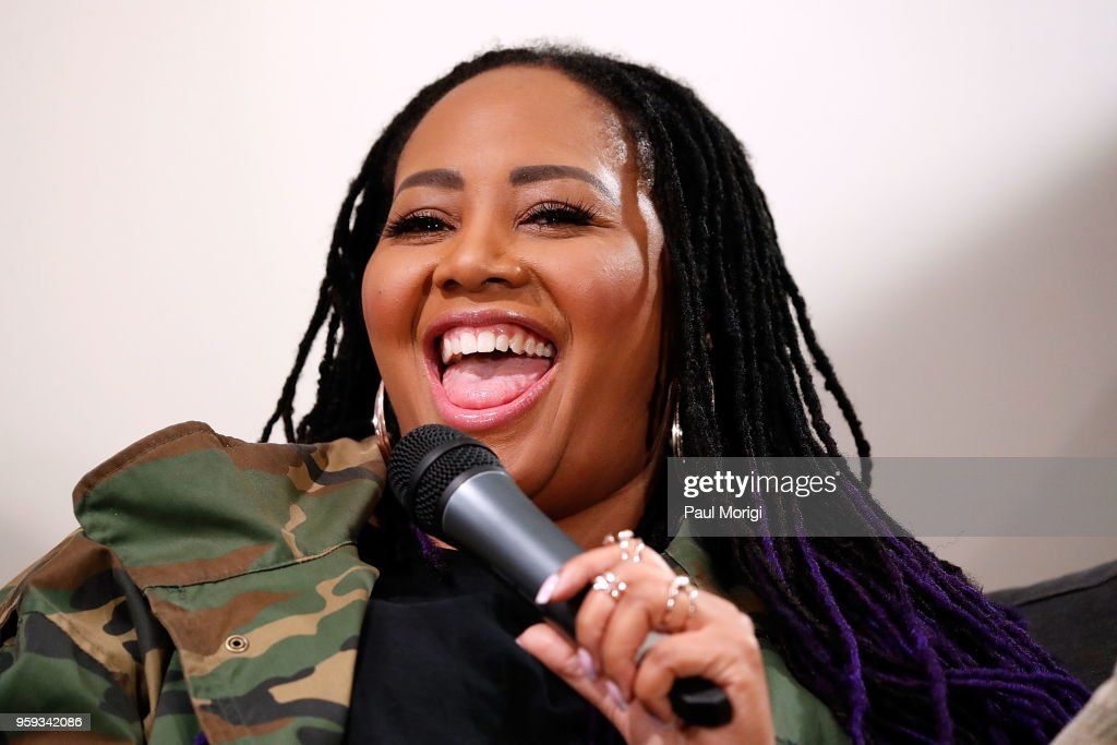 Singer Lalah Hathaway participates in a panel discussion at the Vocal Health Clinic event hosted by The Recording Academy WDC Chapter and MusiCares at the National Union Building on May 16, 2018 in Washington, DC.