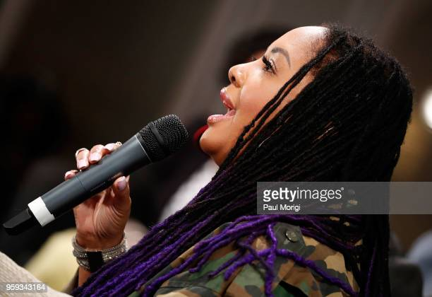 Singer Lalah Hathaway participates in a panel discussion at the Vocal Health Clinic event hosted by The Recording Academy WDC Chapter and MusiCares...