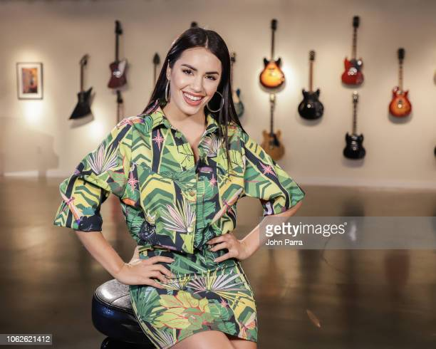 Singer Lali Esposito poses for a portrait during her new single release Caliente on October 31 2018 in Miami Florida