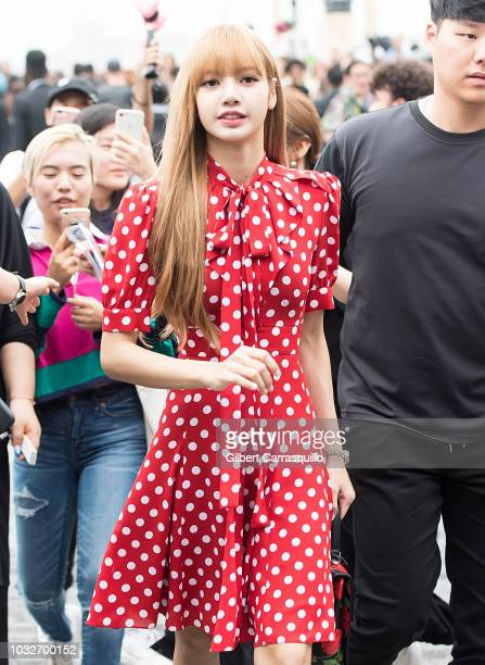 Singer Lalisa Manoban is seen arriving to Michael Kors Collection SS19 fashion show during New York Fashion Week at Pier 17 on September 12 2018 in...