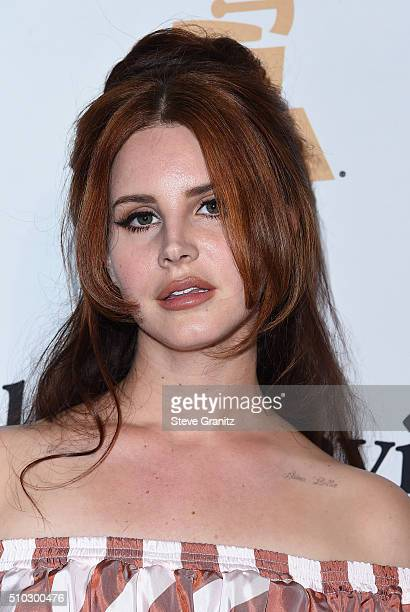 Singer Lana Del Rey attends the 2016 PreGRAMMY Gala and Salute to Industry Icons honoring Irving Azoff at The Beverly Hilton Hotel on February 14...