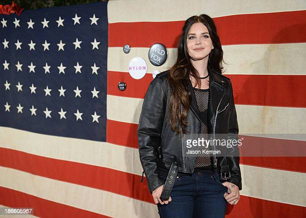 "Singer Lana Del Rey attends the Nylon Magazine Celebration of ""America The Issue"" With Lana Del Rey And Marvin Scott-Jarrett at Sunset Marquis Hotel..."