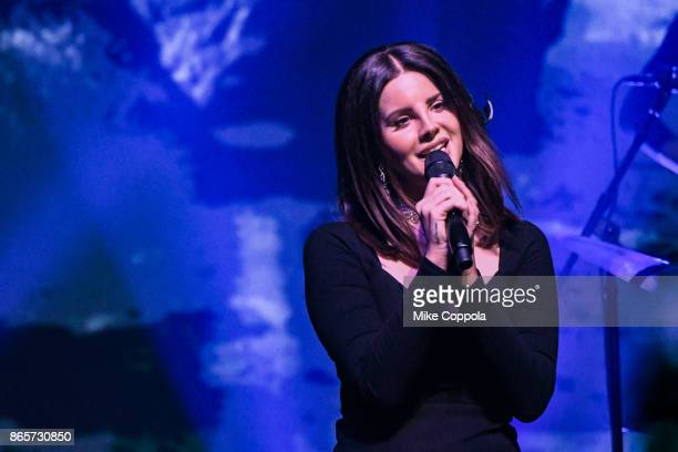 Singer Lana Del Rey performs at Terminal 5 on October 23 2017 in New York City