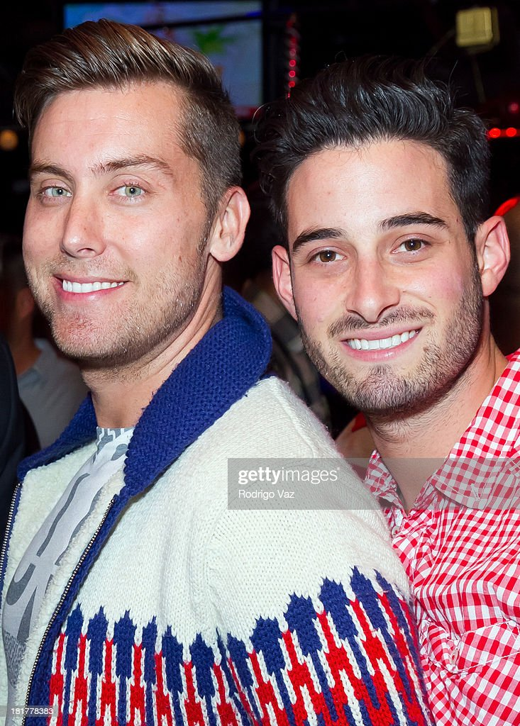 Singer Lance Bass (L) Actor Michael Turchin attend The Abbey's 8th annual Christmas In September Event benefiting The Children's Hospital Los Angeles at The Abbey on September 24, 2013 in West Hollywood, California.
