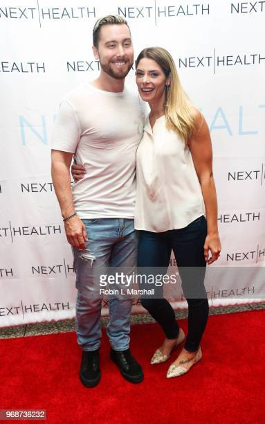 Singer Lance Bass and Actress Ashley Greene attend NEXT HEALTH grand opening at Westfield Century City on June 6 2018 in Century City California