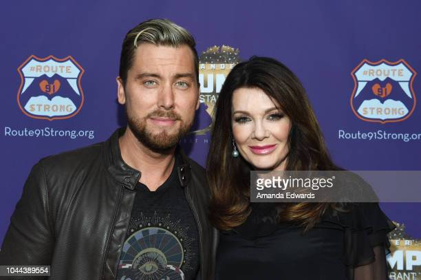 Singer Lance Bass and television personality Lisa Vanderpump attend the 1st annniversary fundraiser for the victims of the October 1st 2017 Las Vegas...