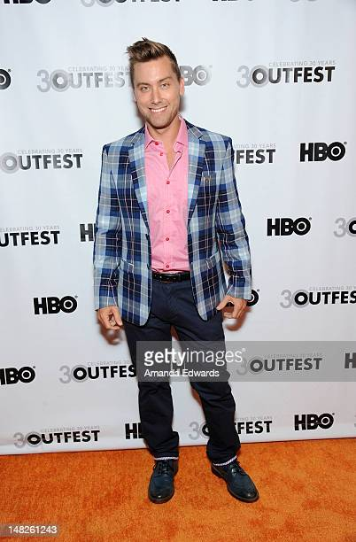 "Singer Lance Bass arrives at the 2012 Outfest Opening Night Gala of ""VITO"" at The Orpheum Theatre on July 12, 2012 in Los Angeles, California."