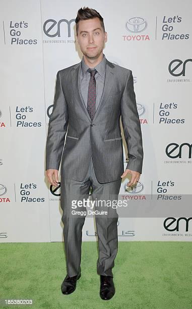 Singer Lance Bass arrives at the 2013 Environmental Media Awards at Warner Bros Studios on October 19 2013 in Burbank California
