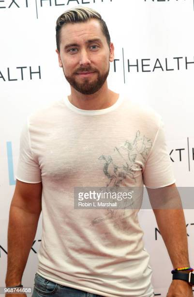 Singer Lance Bass attends NEXT HEALTH Grand Opening at Westfield Century City on June 6 2018 in Century City California