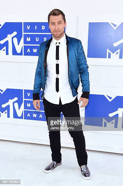 Singer Lance Bass attends the 2016 MTV Video Music Awards on August 28 2016 in New York City