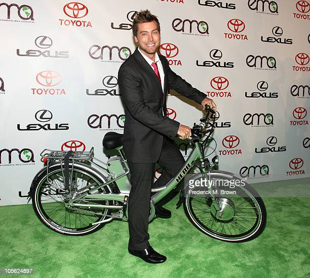Singer Lance Bass attends the 20th annual Enviornmental Media Association Awards at Warner Brothers Studios on October 16 2010 in Burbank California