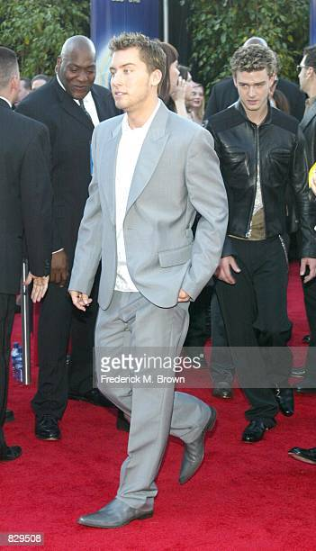 ''NSYNC singer Lance Bass attends the 44th Annual Grammy Awards at Staples Center February 27 2002 in Los Angeles CA