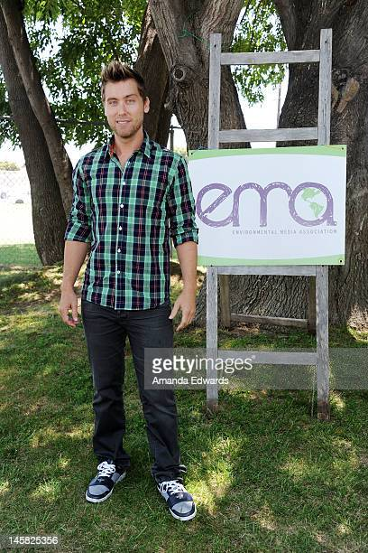 Singer Lance Bass attends The Environmental Media Association's 3rd Annual Garden Luncheon at Carson Senior High School on June 6 2012 in Carson...