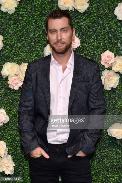 Singer Lance Bass attends the grand opening of Vanderpump Cocktail Garden at Caesars Palace on March 30 2019 in Las Vegas Nevada