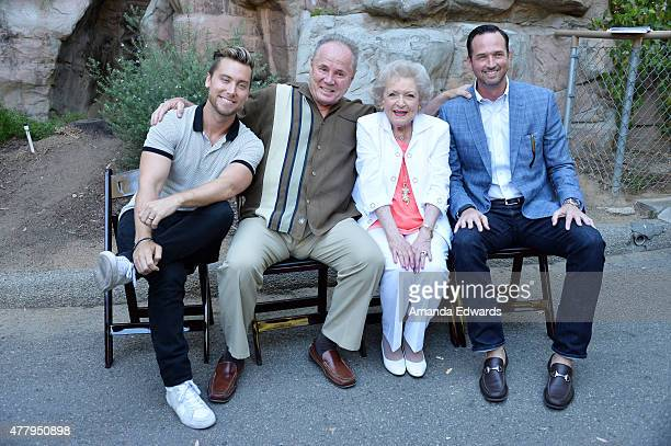Singer Lance Bass Beastly Ball honoree Tom LaBonge actress Betty White and 99 Cents Only Stores Senior Vice President of Store Operations Jason Kidd...