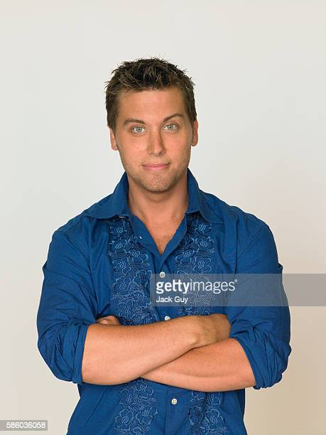 Singer Lance Bass is photographed for People Magazine in 2006 in Los Angeles California
