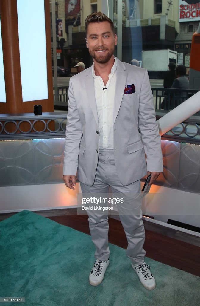 Singer Lance Bass poses at Hollywood Today Live at W Hollywood on April 3, 2017 in Hollywood, California.