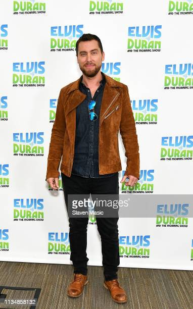 Singer Lance Bass visits The Elvis Duran Z100 Morning Show at Z100 Studio on April 4 2019 in New York City
