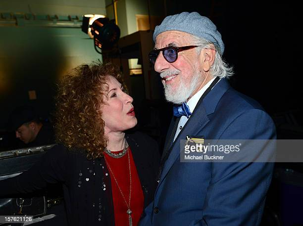 Singer Lani Hall and producer Lou Adler attend a celebration of Carole King and her music to benefit Paul Newman's The Painted Turtle Camp at the...