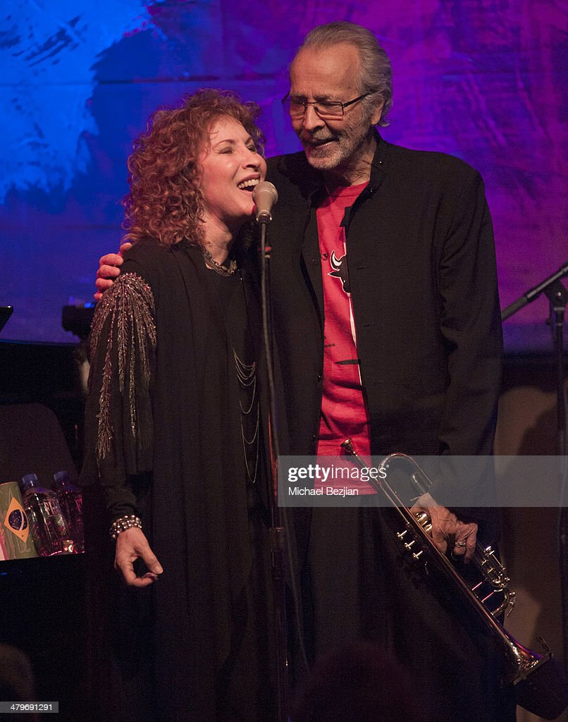 Singer Lani Hall and Trumpeter Herb Alpert perform at Herb Alpert And Lani Hall Performance At Vibrato Grill at Vibrato Grill Jazz on March 19, 2014 in Beverly Hills, California.