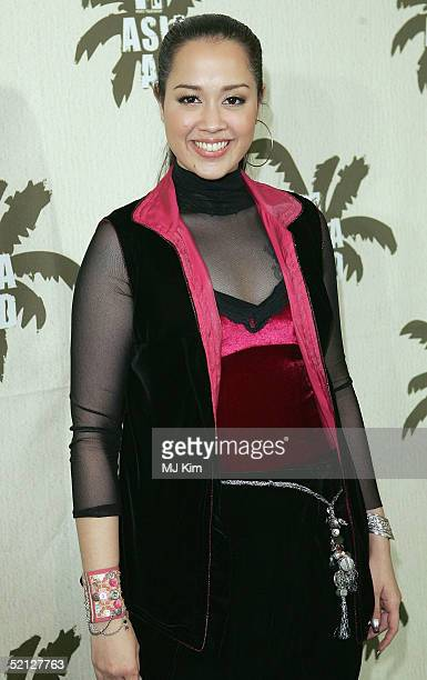 """Singer Lanna Commins from Thai poses in the pressroom at """"MTV Asia Aid"""", at the IMPACT Arena on February 3, 2005 in Bangkok, Thailand. The fourth..."""