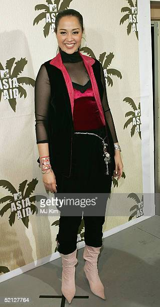 """Singer Lanna Commins from Thailand poses in the pressroom at """"MTV Asia Aid"""", at the IMPACT Arena on February 3, 2005 in Bangkok, Thailand. The fourth..."""