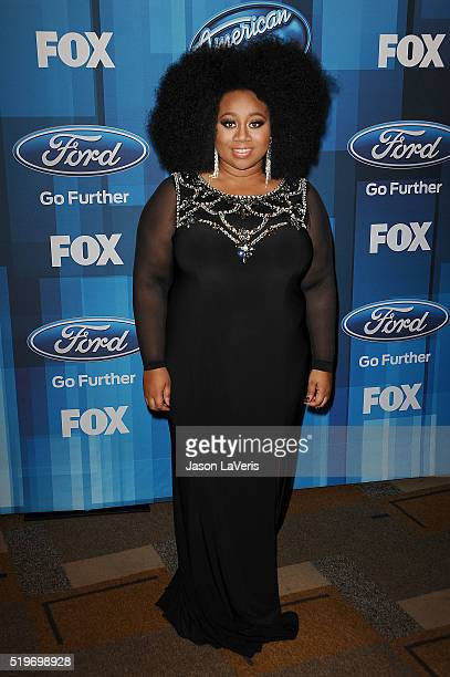 """Singer La'Porsha Renae attend FOX's """"American Idol"""" finale for the farewell season at Dolby Theatre on April 7, 2016 in Hollywood, California."""