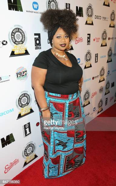 Singer La'Porsha Renae attends The 7th Annual Guild Of Music Supervisors Awards at The Theater at Ace Hotel on February 16, 2017 in Hollywood,...