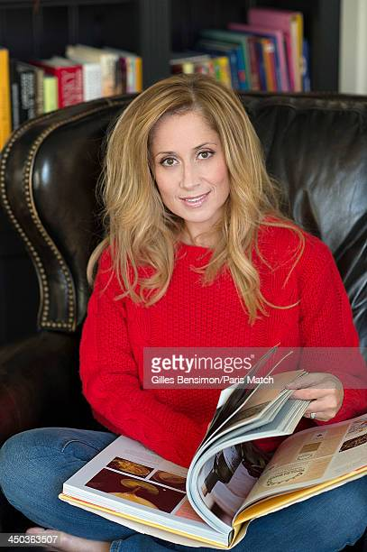 Singer Lara Fabian is photographed at home for Paris Match on November 9 2013 in Waterloo Belgium