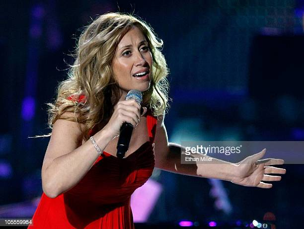 Singer Lara Fabian performs during the David Foster and Friends concert at the Mandalay Bay Events Center October 15 2010 in Las Vegas Nevada