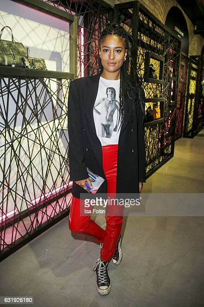 Singer Lary attends the Liebeskind Berlin housewarming party during the MercedesBenz Fashion Week Berlin A/W 2017 at on January 17 2017 in Berlin...