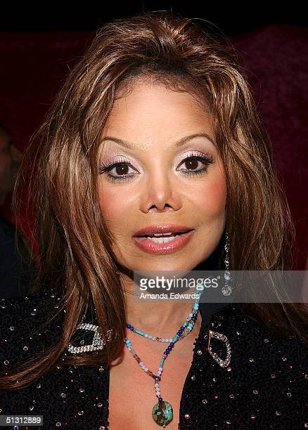 Singer Latoya Jackson attends the Distinctive Assets Gift Lounge at the World Music Awards at the Thomas Mack Convention Center on September 15 2004...