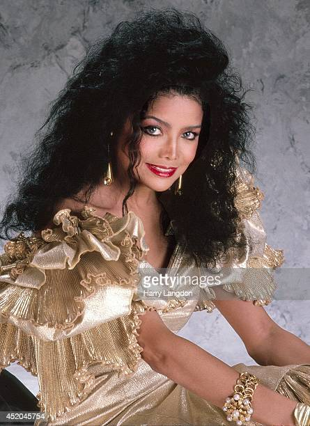 Singer Latoya Jackson poses for a portrait in 1986 in Los Angeles California