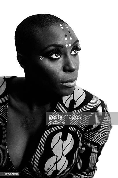 Singer Laura Mvula poses for a portrait at Commodore Barry Park on August 26 2016 in Brooklyn New York
