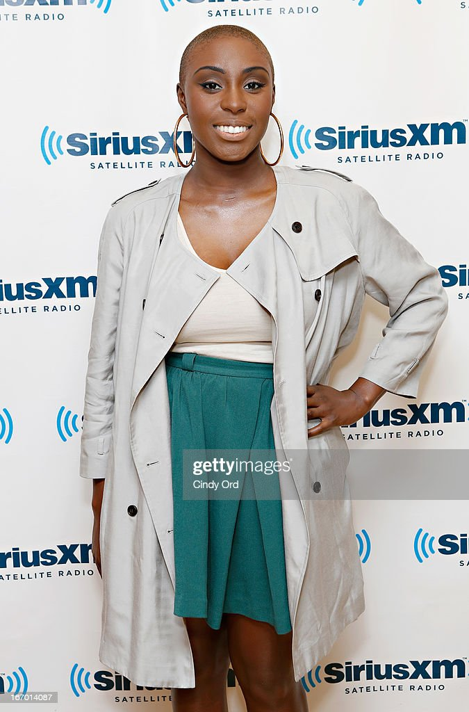 Singer Laura Mvula visits the SiriusXM Studios on April 19, 2013 in New York City.